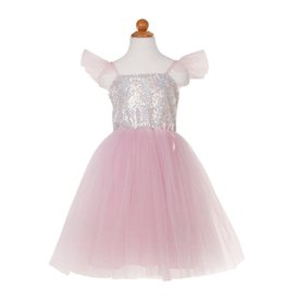 Great Pretenders Silver Sequins Princess Dress Size 3-4