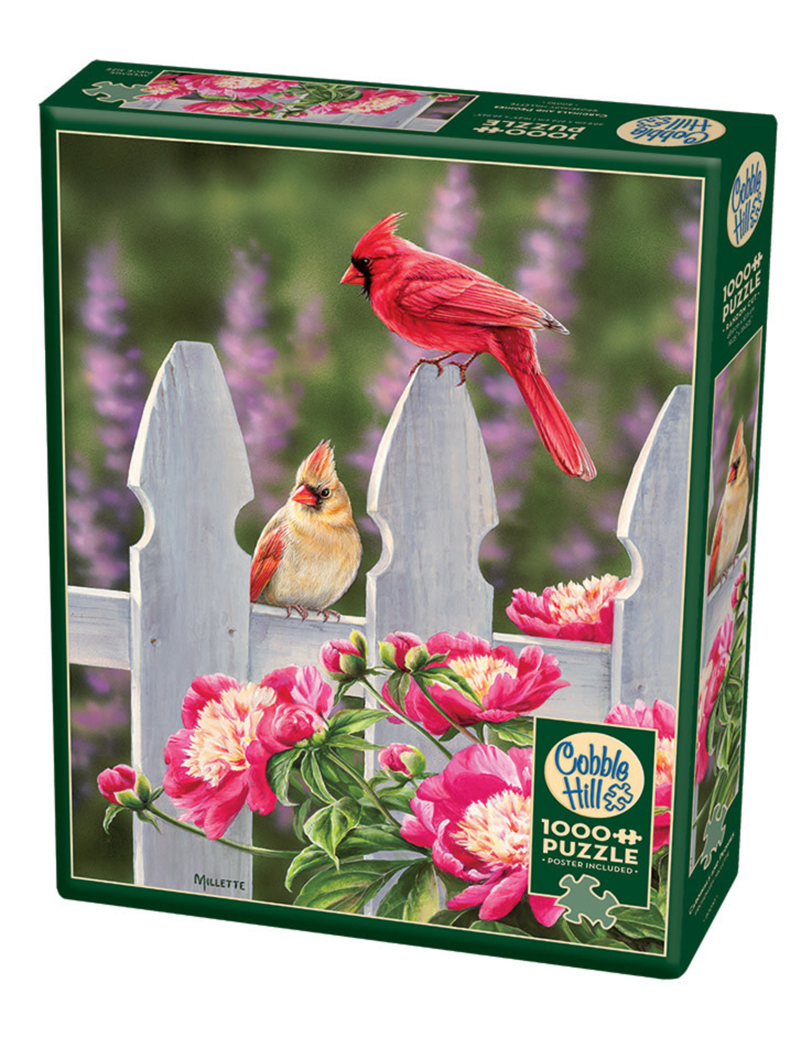 Cobble Hill Puzzles Cardinals & Peonies 1000pc