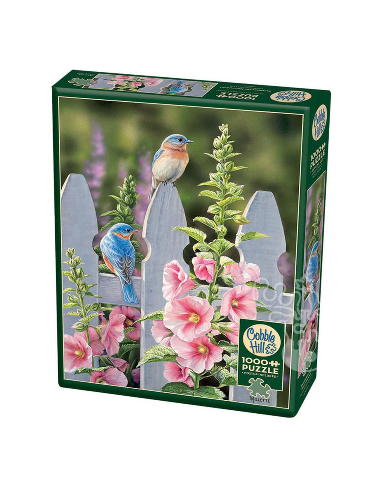 Cobble Hill Puzzles Bluebirds & Hollyhocks 1000pc