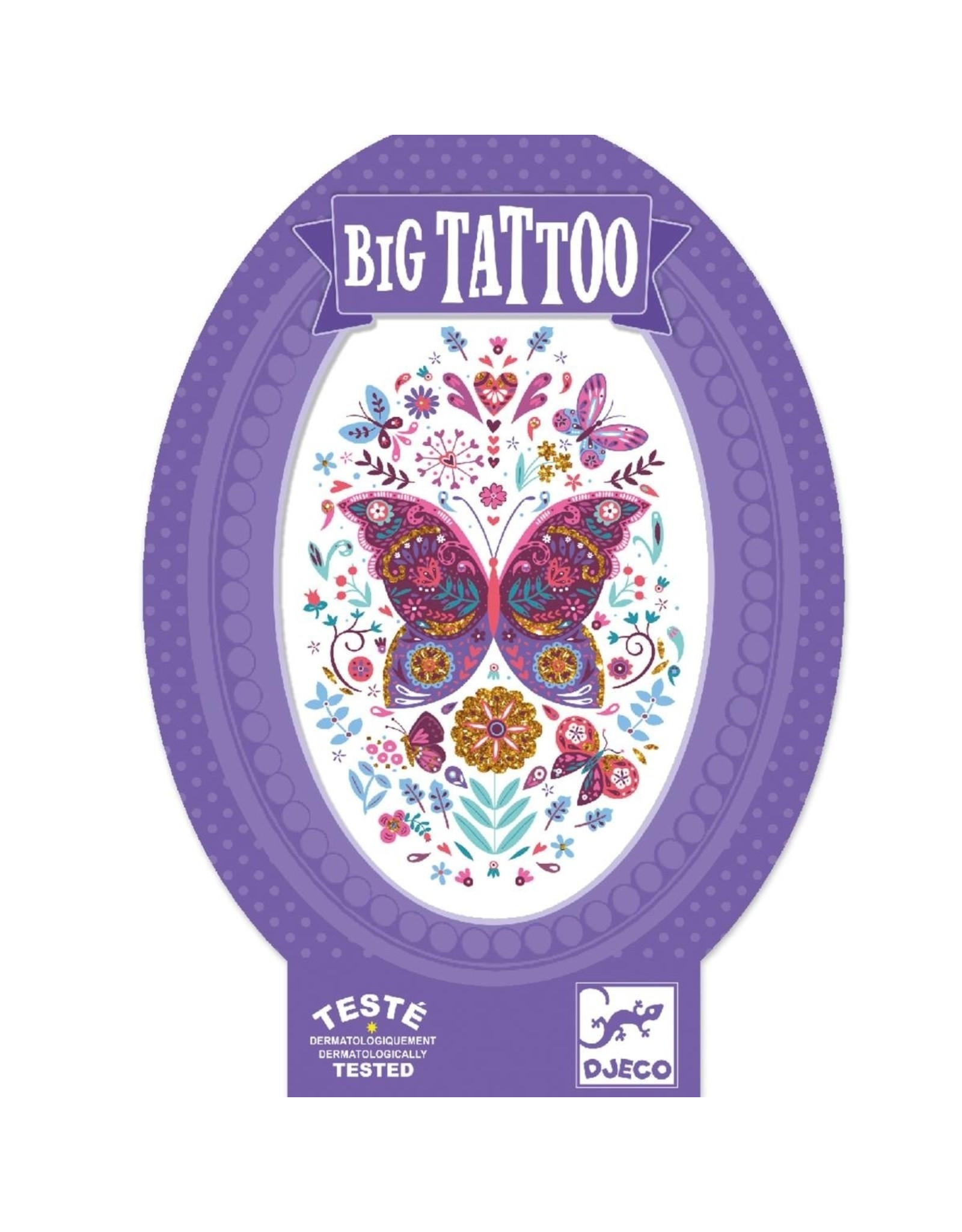 Djeco Butterfly Metallic Big Tattoo