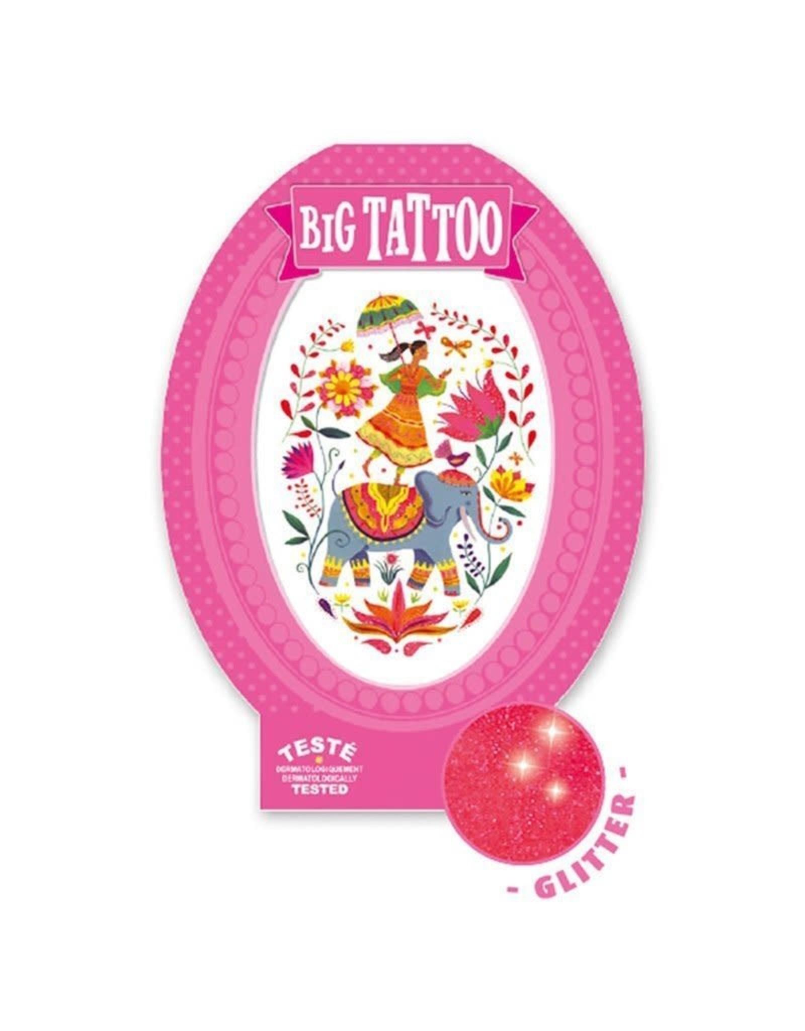 Djeco Rose India Metallic Big Tattoo
