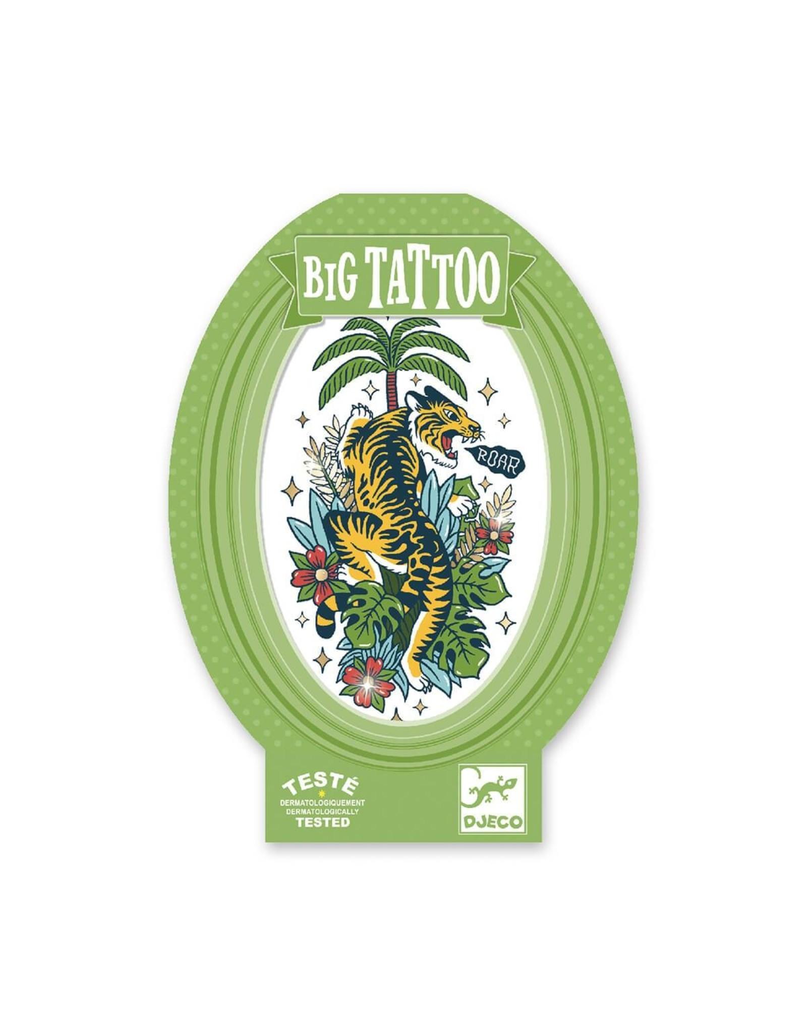 Djeco Tiger Metallic Big Tattoo