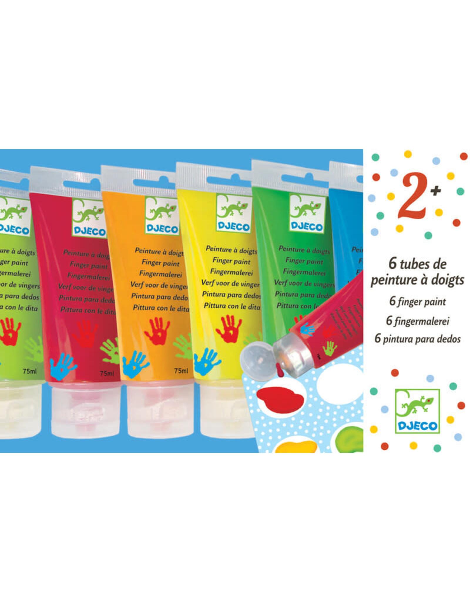 Djeco Finger Paint Tubes Classic 6 Colours