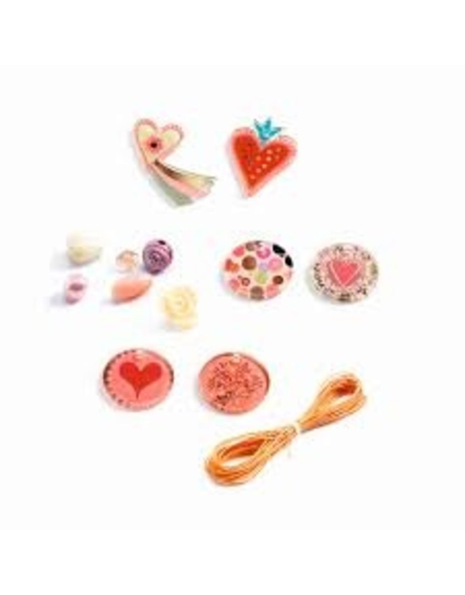 Djeco Hearts Fancy Beads