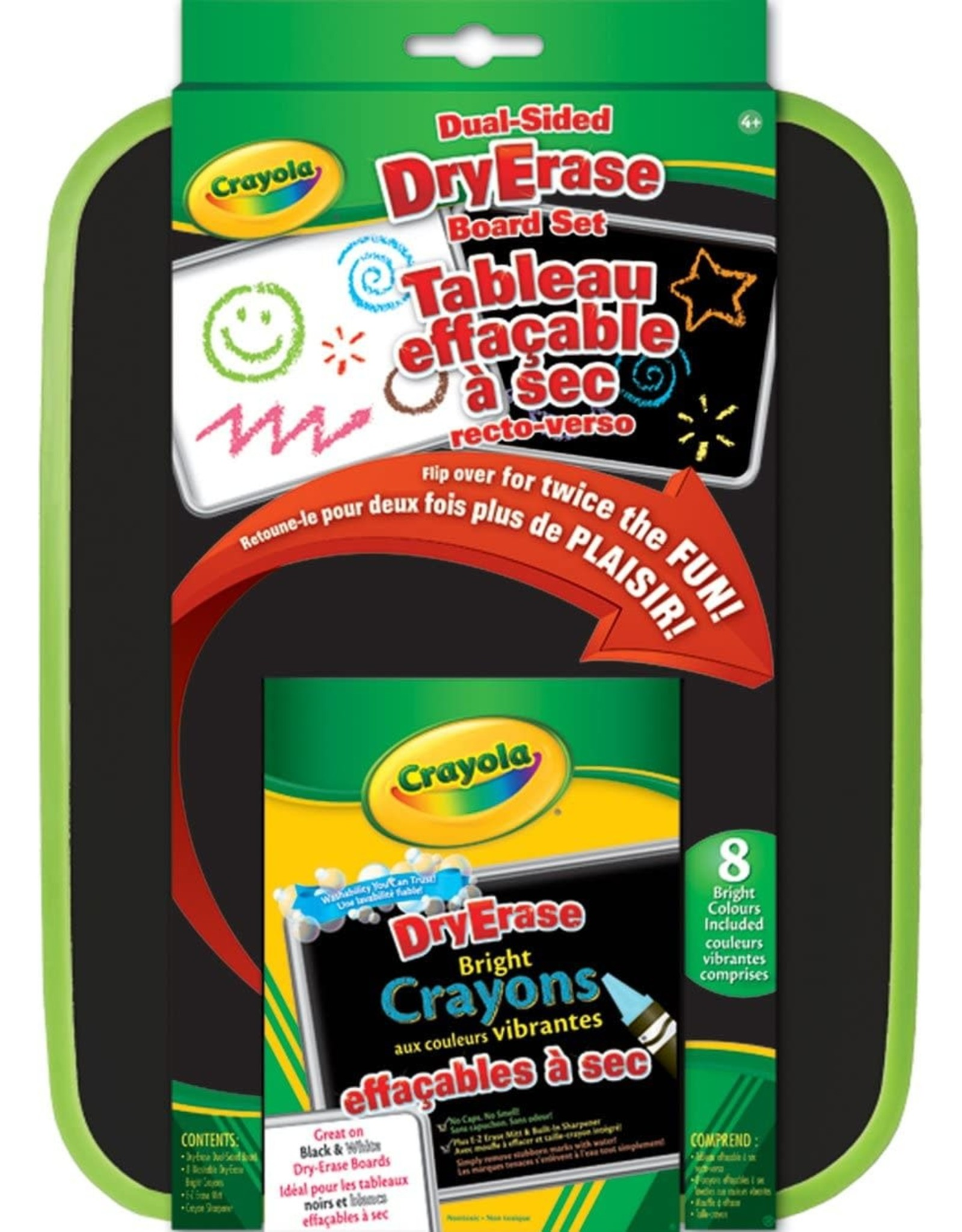 Crayola Dry-Erase Board Set, Dual Sided With Neon Crayons