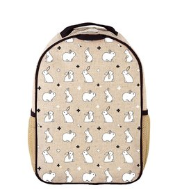 SoYoung Bunny Tile Toddler Backpack Raw Linen