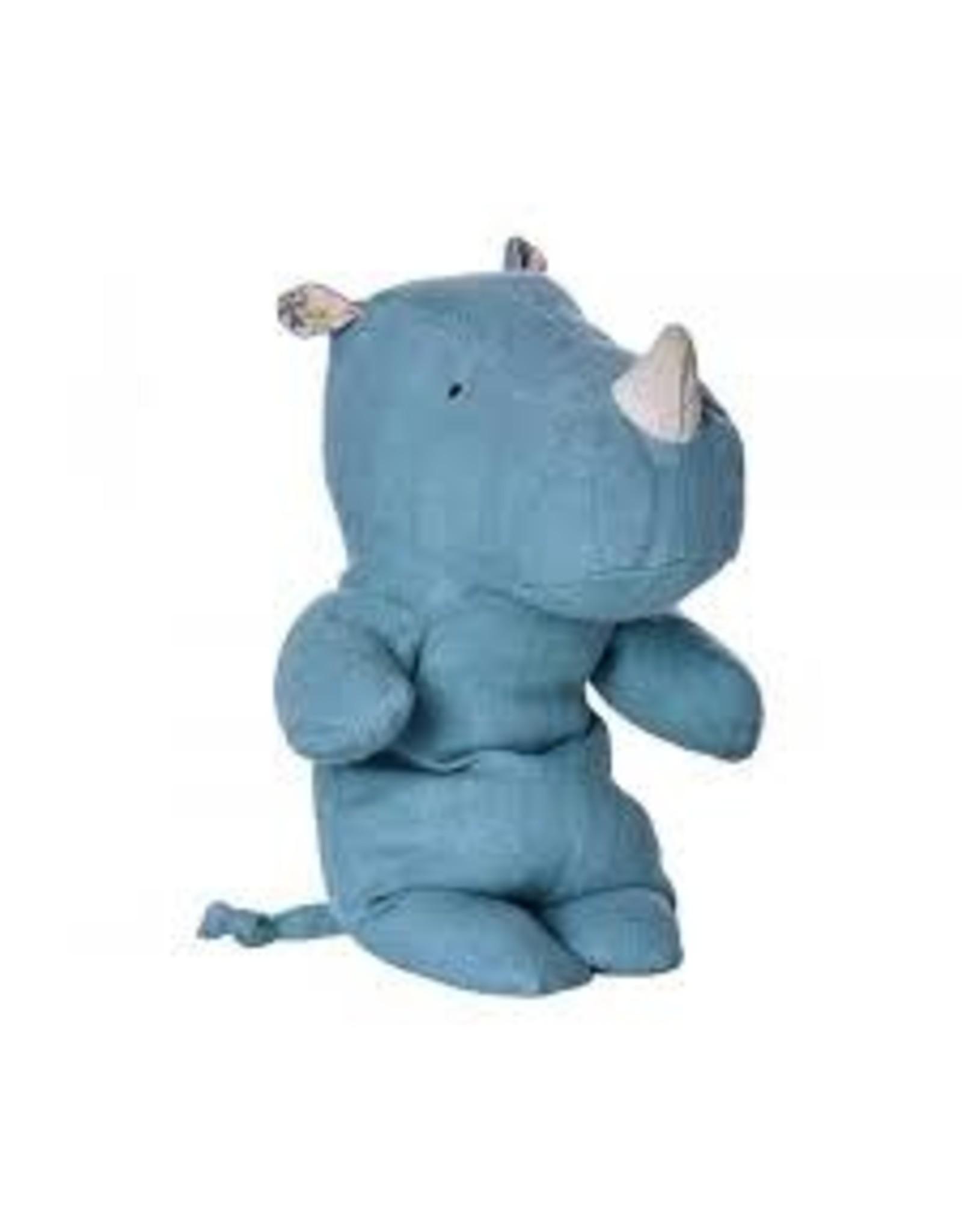 Maileg Safari Friends Little Rhino Blue
