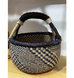Big Blue Moma Colourful Bolga Basket Small DB/N