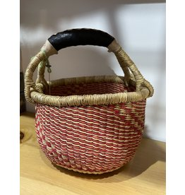 Big Blue Moma Colourful Bolga Basket Small R/N