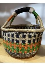 Big Blue Moma Copy of Colourful Bolga Basket Small R/B/N