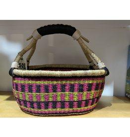 Big Blue Moma Colourful Bread Basket P/L/B Checker