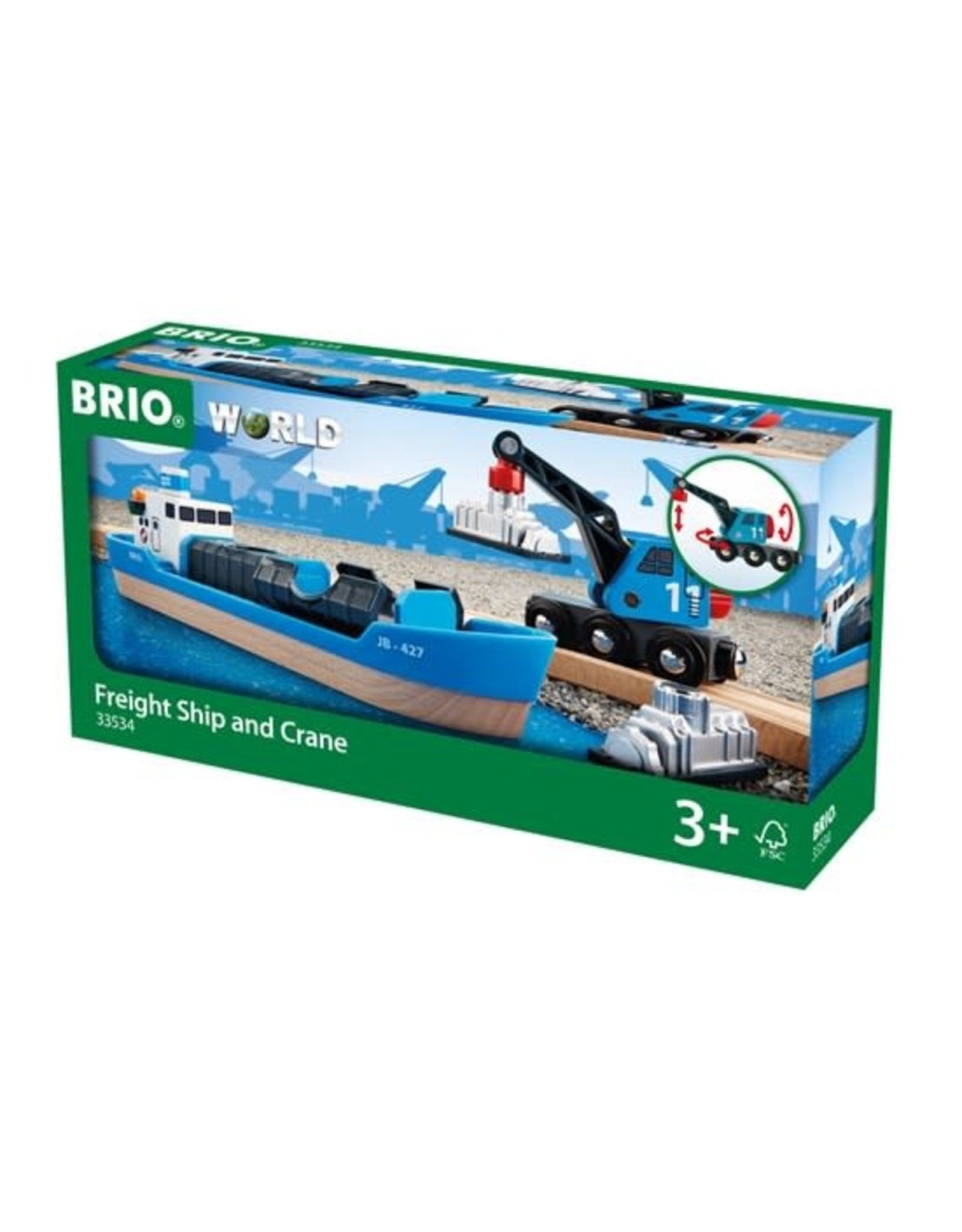 Brio Freight Ship and Crane