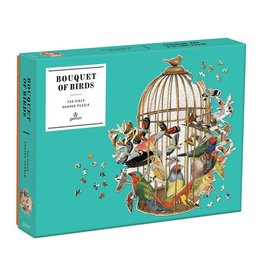 Galison Bouquet Of Birds 750pc Shaped Puzzle
