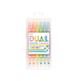 Ooly Dual Liner Double Ended Neon Highlighters - Set Of 6