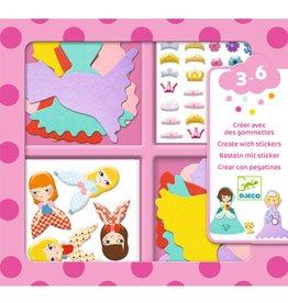 Djeco I Love Princesses - Create with Stickers