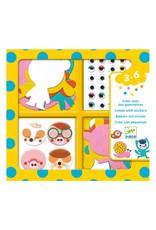 Djeco I Love Animals - Create with Stickers