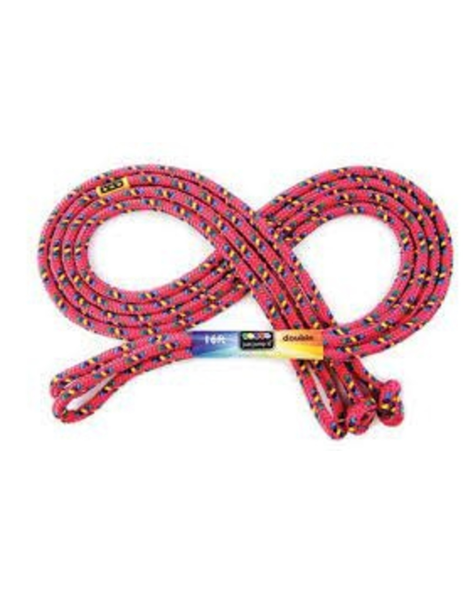 Just Jump It 16' Double Dutch Red Confetti Jump Rope