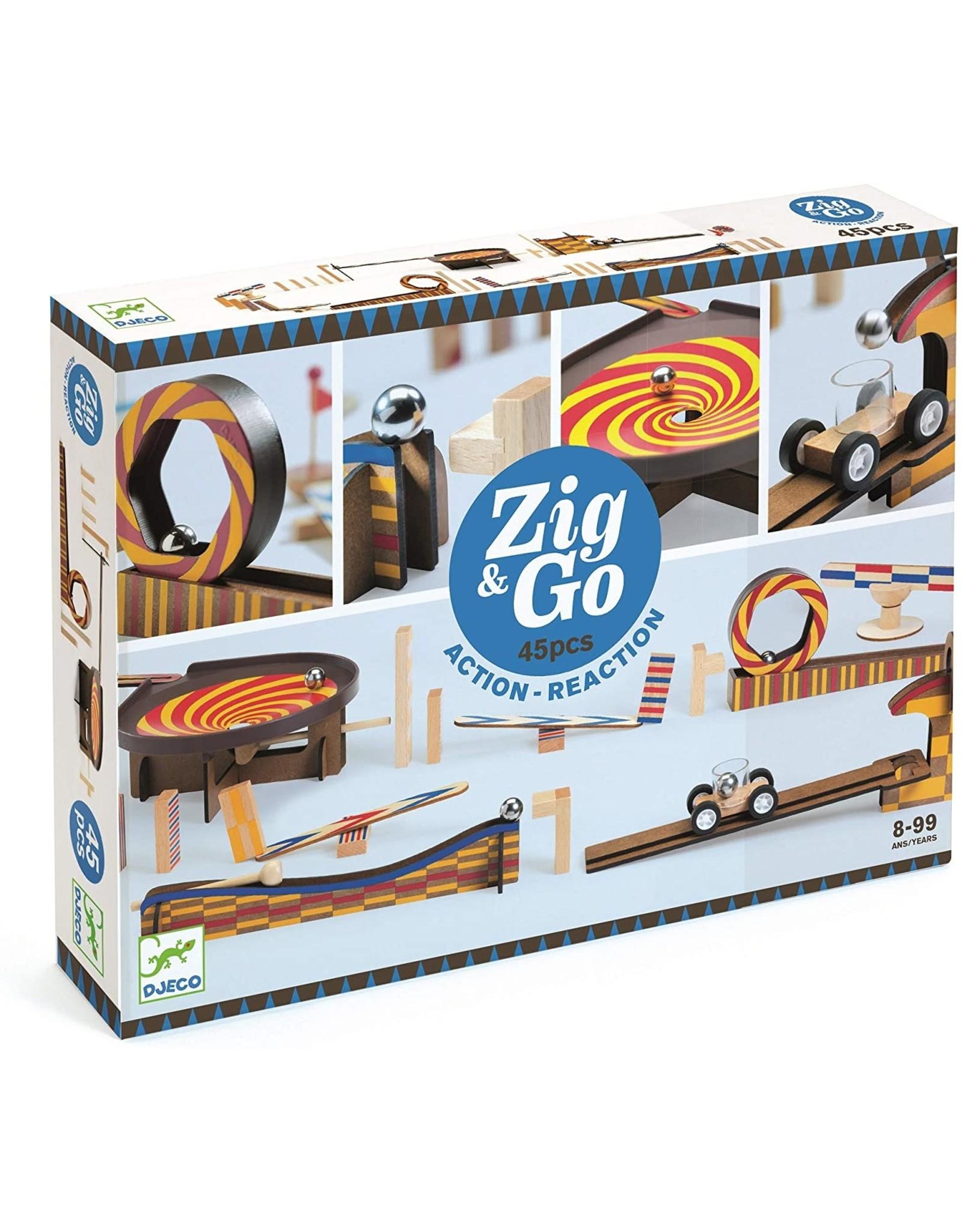 Djeco Zig & Go - 45 Pcs