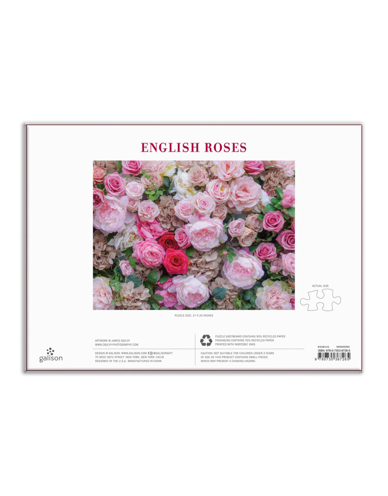 Galison English Roses 1000 Piece Puzzle