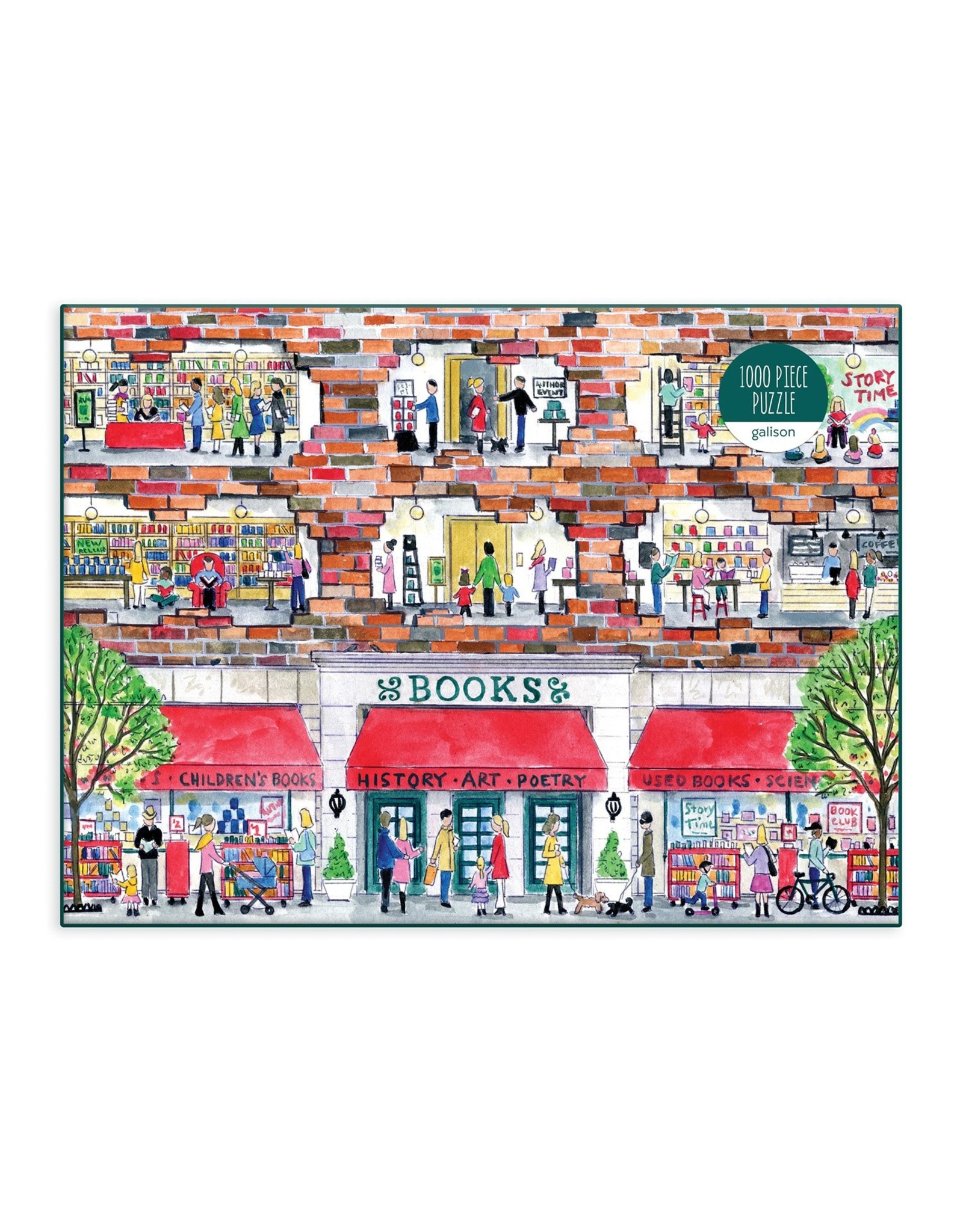 Galison Michael Storrings A Day at the Bookstore 1000 Piece Puzzle