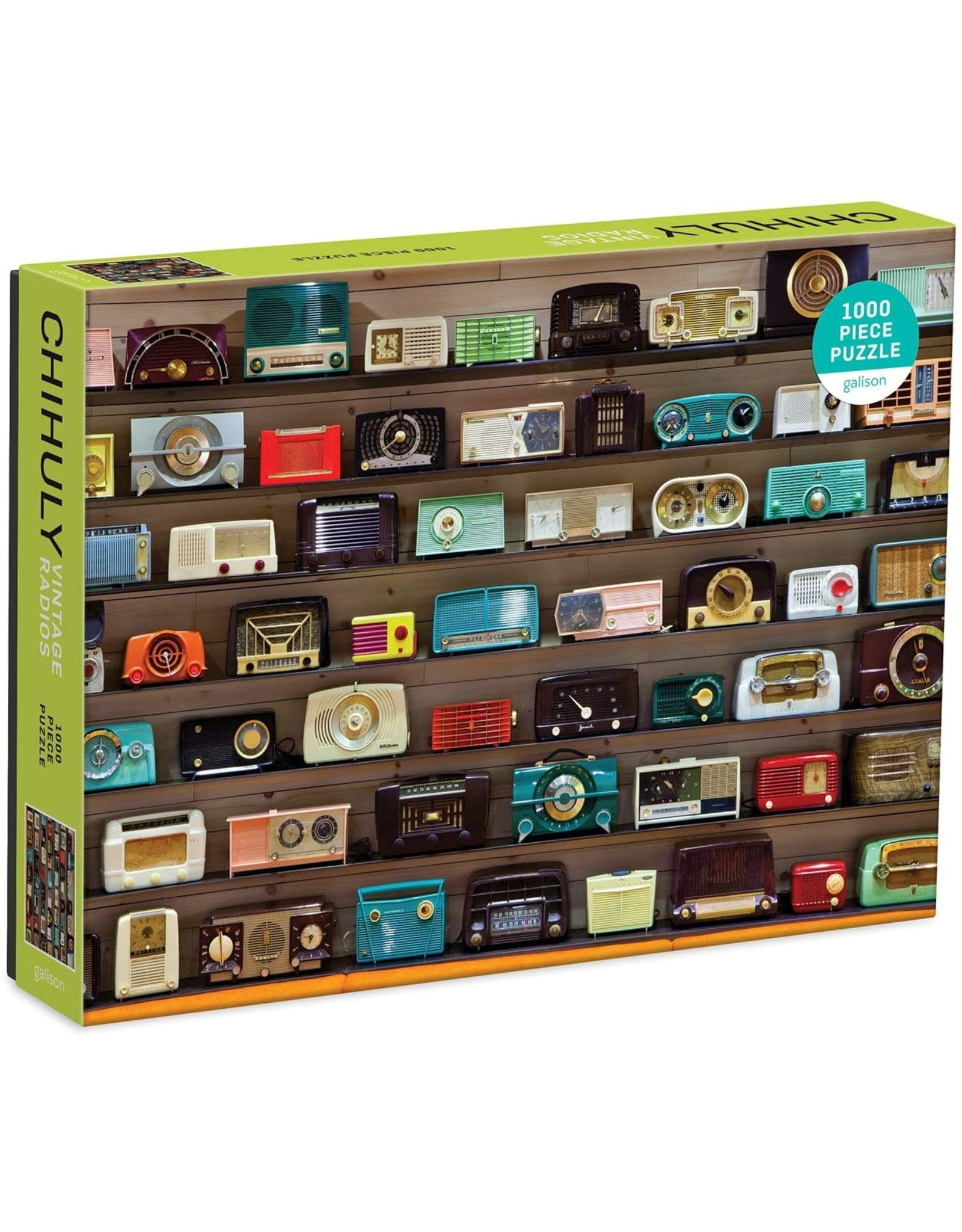 Galison Chihuly Vintage Radios 1000 Piece Puzzle
