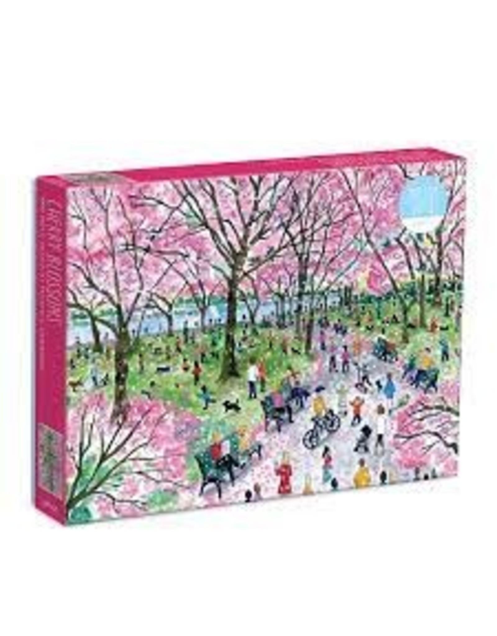 Galison Michael Storrings Cherry Blossoms 1000 Piece Puzzle