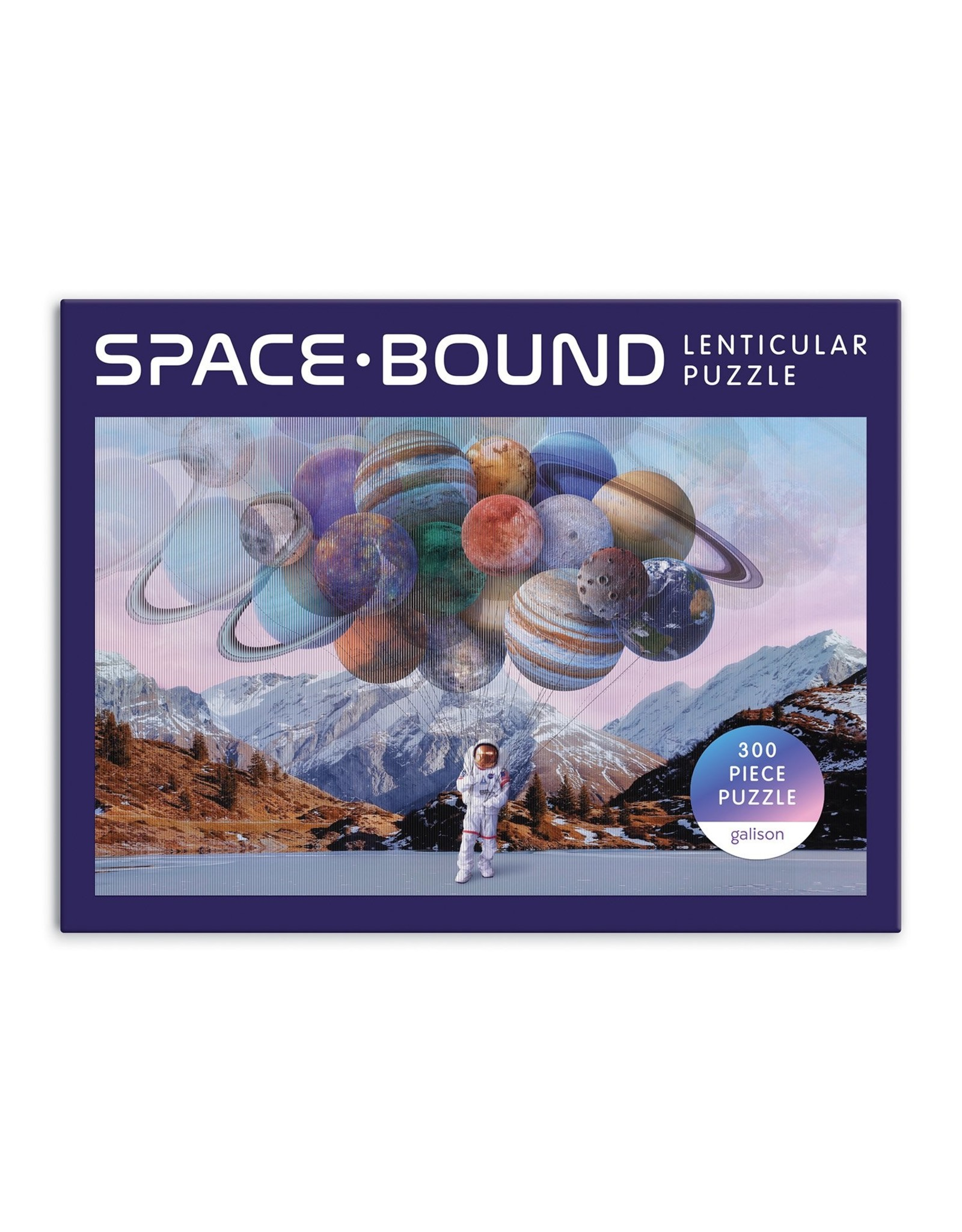Galison Space Bound 300 Piece Lenticular Puzzle