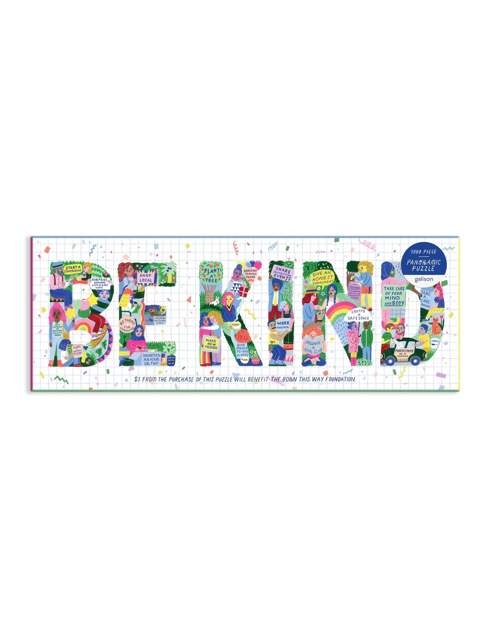Galison Be Kind Panoramic Puzzle