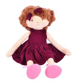 Bonikka Dolls Lola - Lt.Brown Hair With Maroon Dress  44 Cm