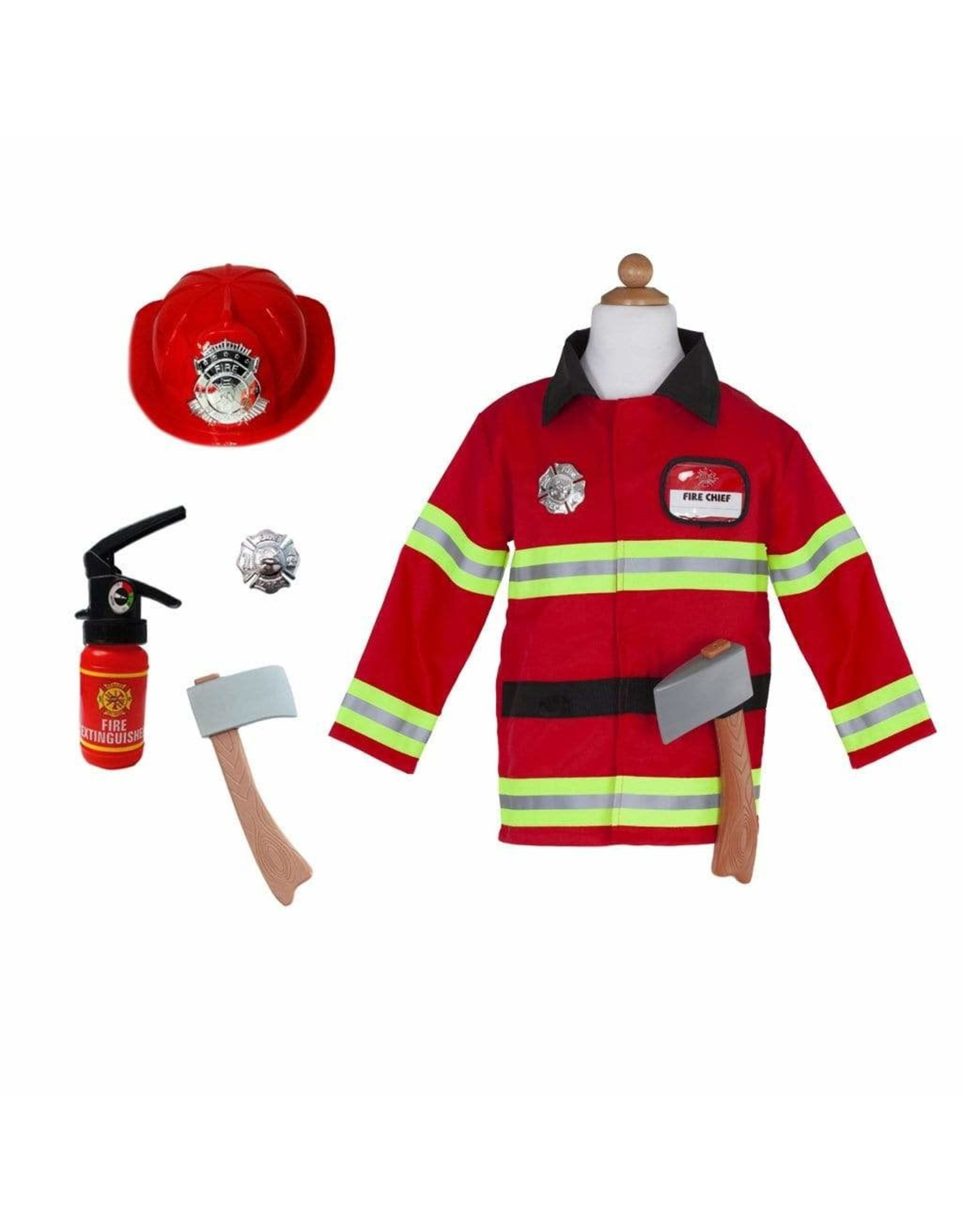 Great Pretenders Firefighter W/Accessories, Size 5-6