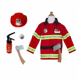 Great Pretenders Firefighter With Accessories, Size 5-6