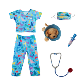 Great Pretenders Veterinarian Scrubs With Accessories  Size 5-6