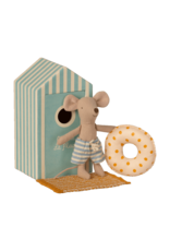 Maileg Little Brother in Cabin de Plage Beach Mice