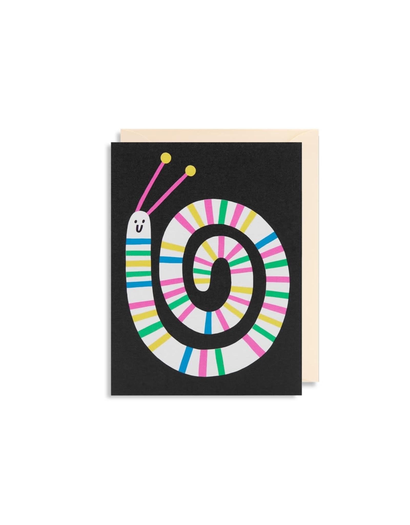 Paper E Clips Worm Mini Card