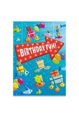 Peaceable Kingdom Fish Party Foil Card