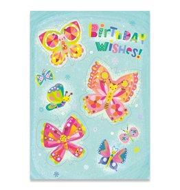 Peaceable Kingdom Butterflies Foil Card