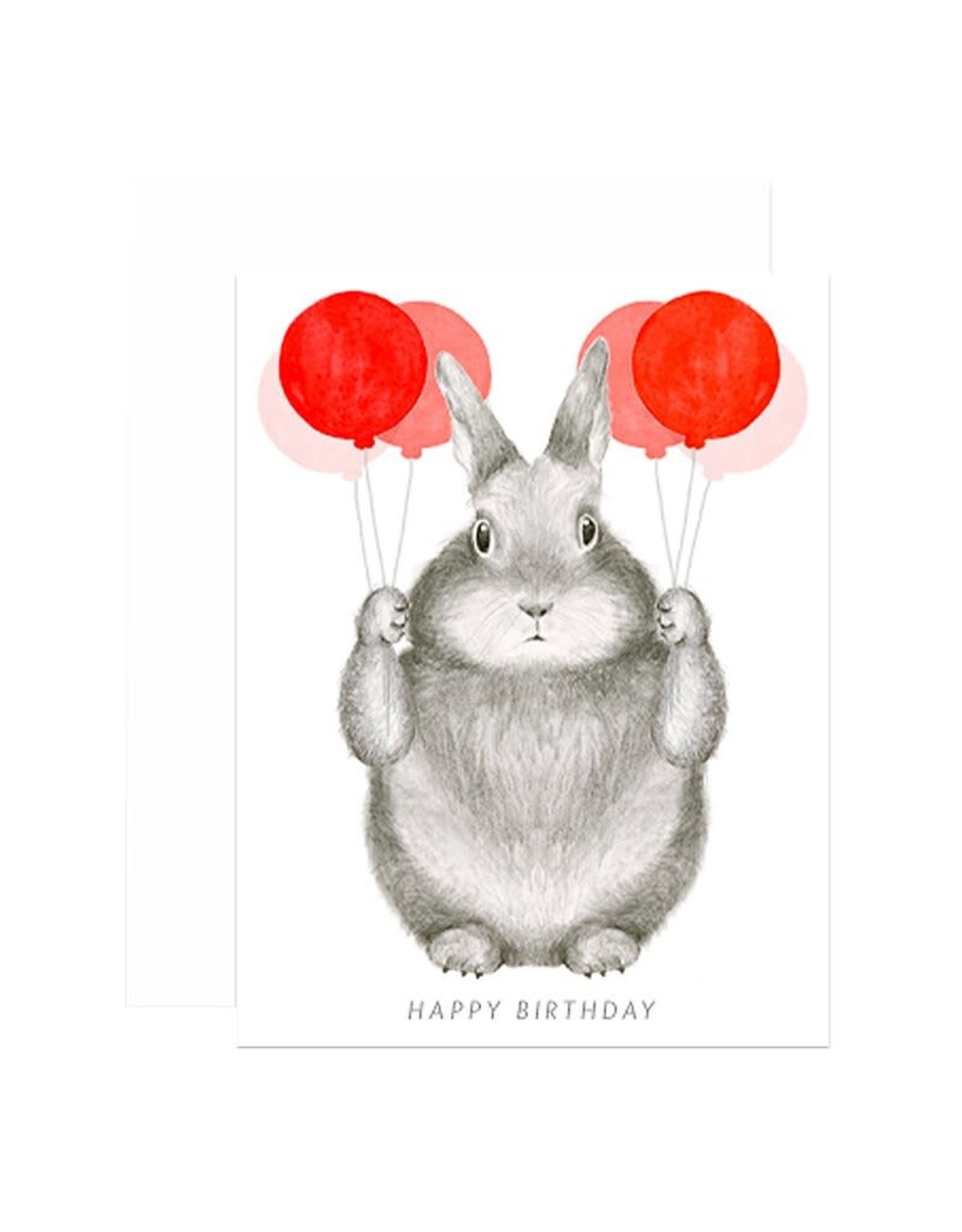 Paper E Clips Bunny Balloons Card
