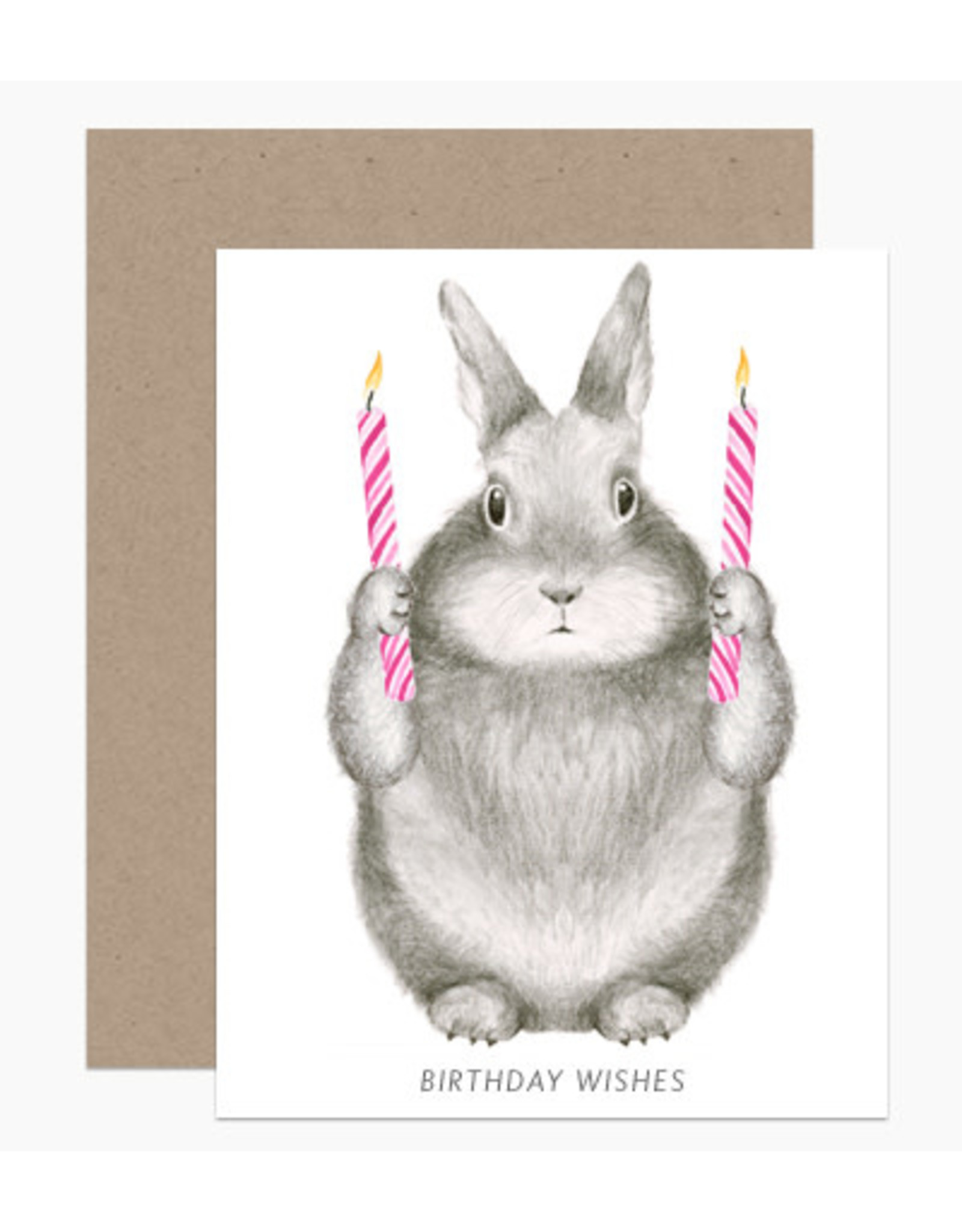 Paper E Clips Birthday Wishes Bunny
