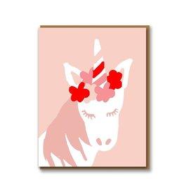 Paper E Clips Unicorn Card