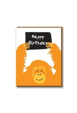 Paper E Clips Orangutan Card