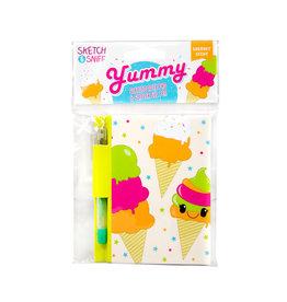 Scentco Yummy Sketch Sniff Note Pad & Pen Rainbow Sherbet