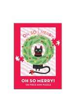 Galison Oh So Merry 100 Piece Mini Puzzle