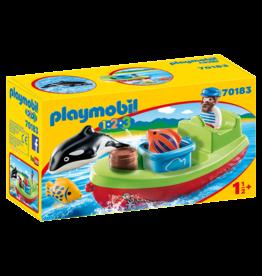 Playmobil Playmobil 1.2.3 70183  Fisherman With Boat