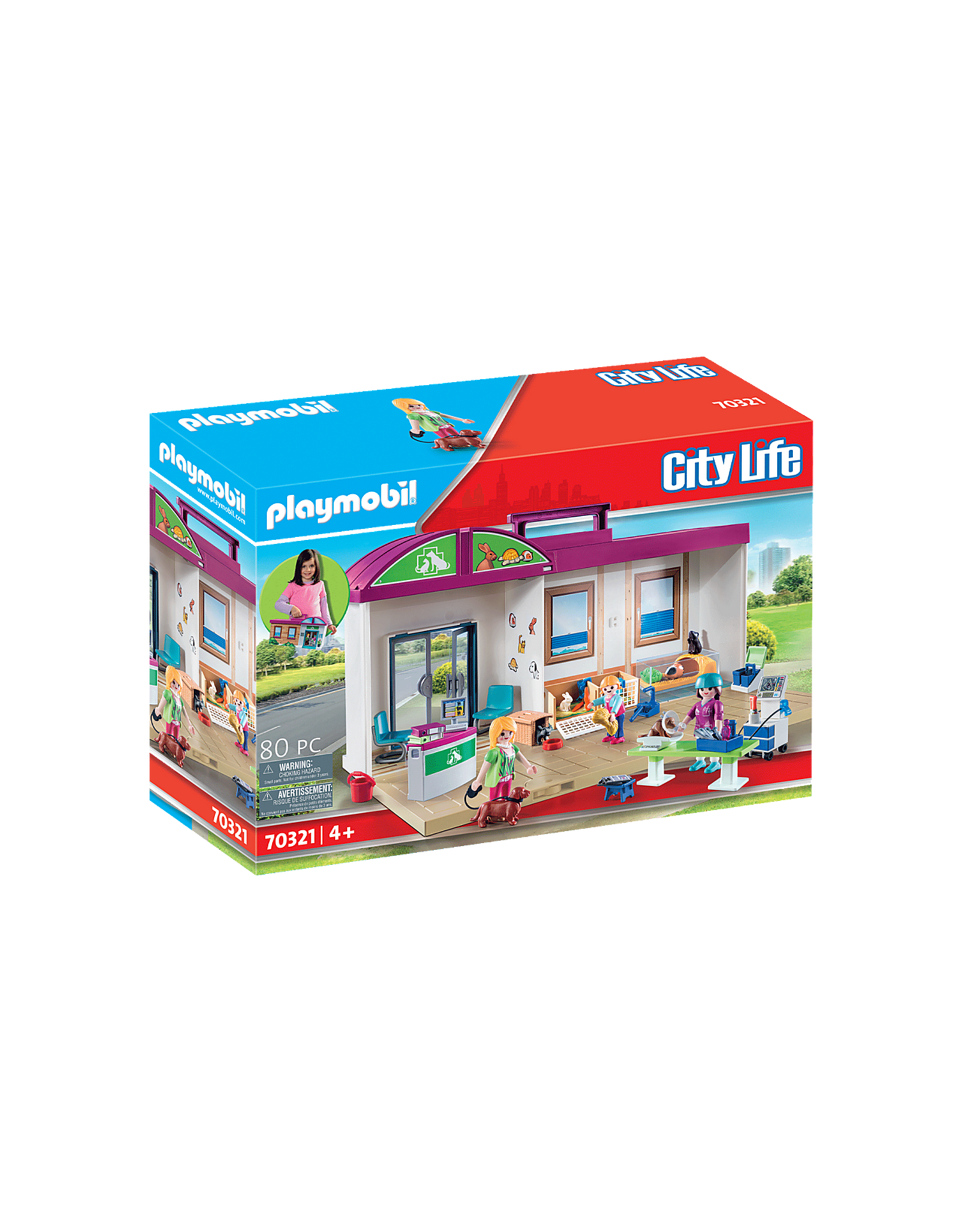 Playmobil Playmobil Citylife 70321 Take Along Vet Clinic
