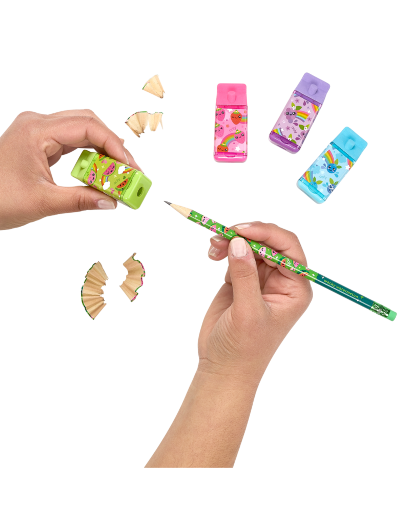 Ooly Lil' Juicy Scented Erasers + Sharpeners