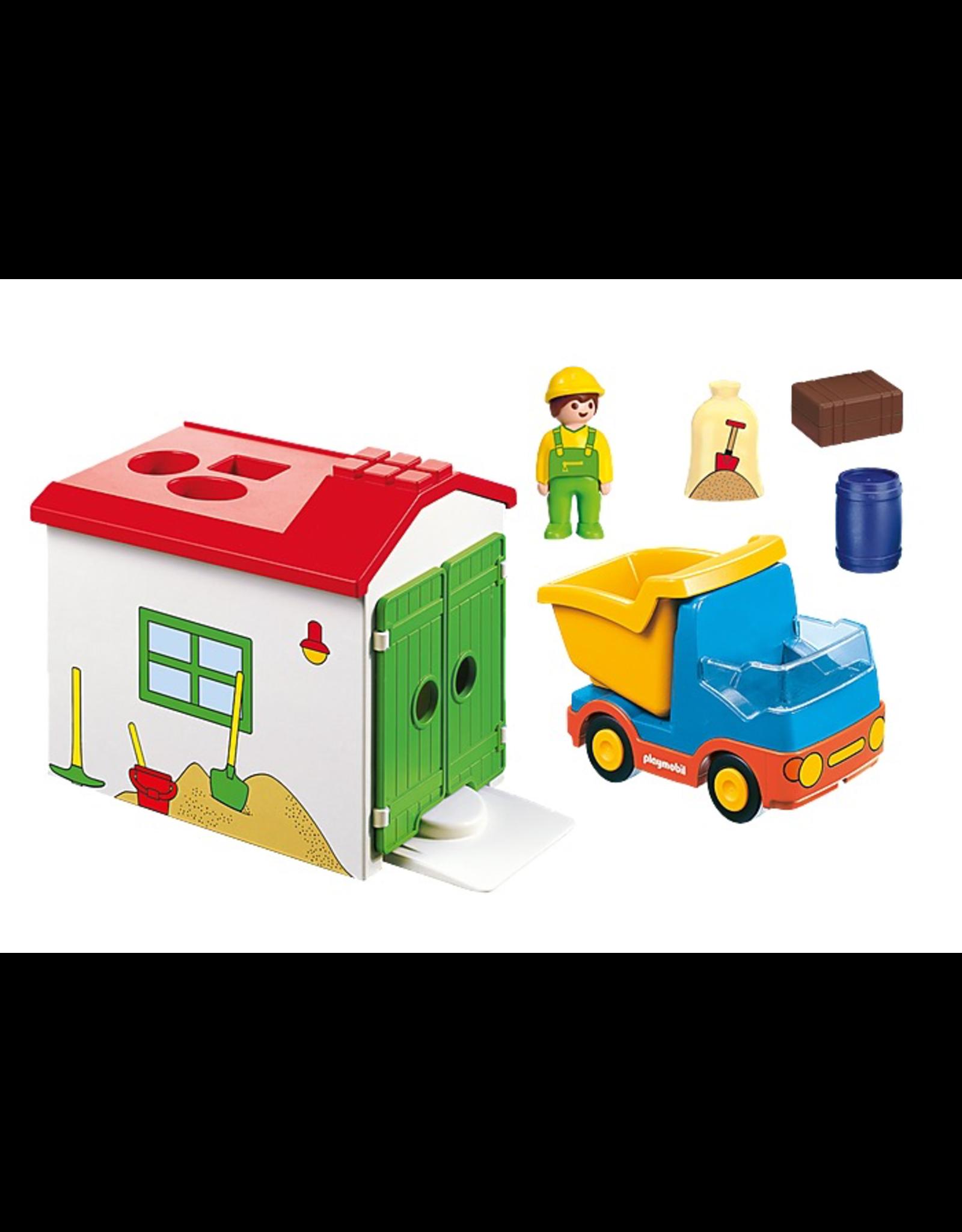 Playmobil Playmobil 1.2.3. 70184  Dump Truck & Sorting Garage