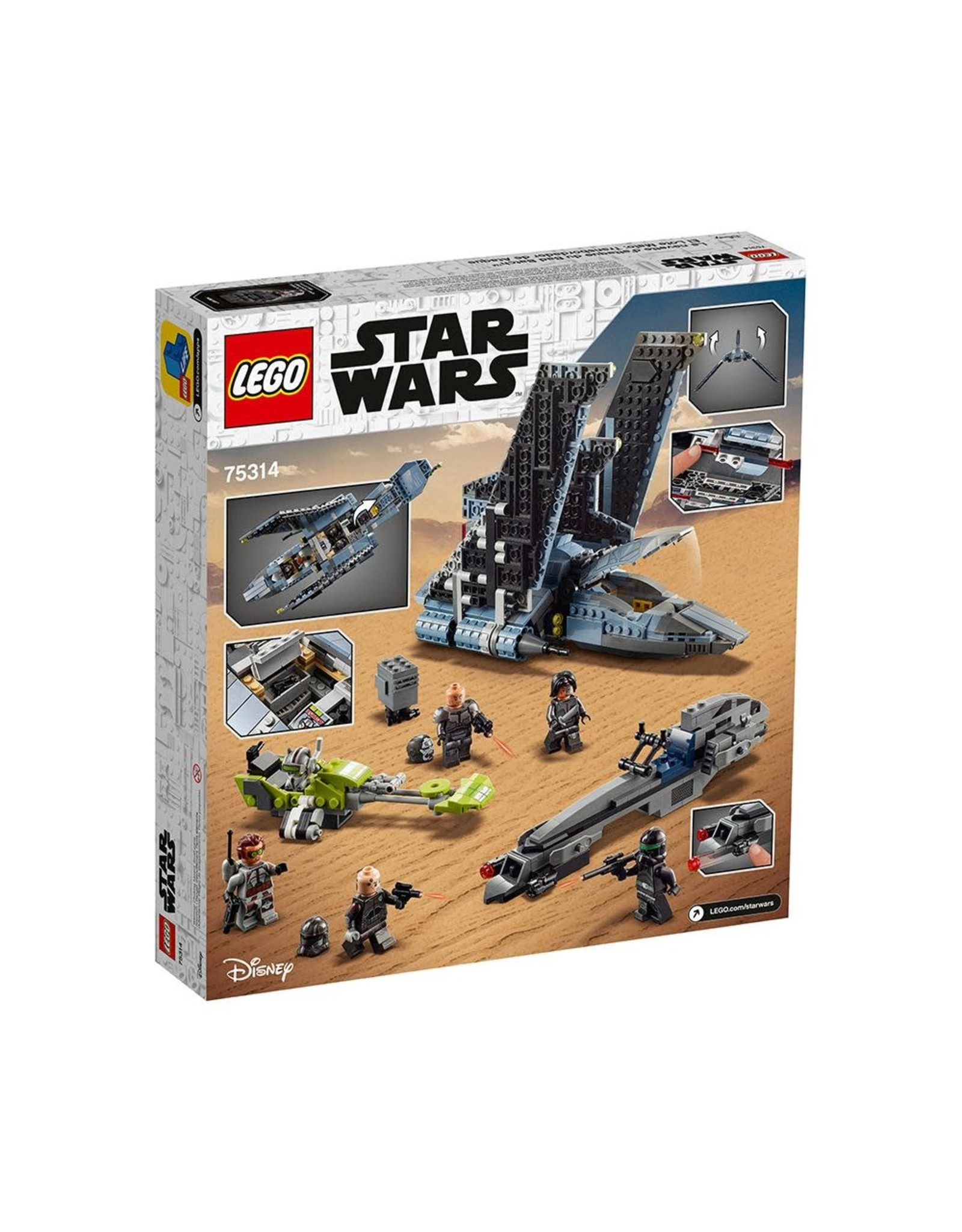 LEGO Star Wars 75314 The Bad Batch Attack Shuttle
