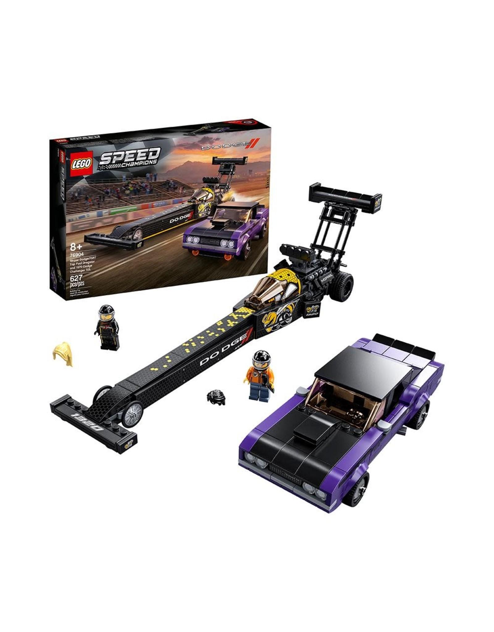 LEGO Speed Champions 76904 Mopar Dodge//SRT Top Fuel Dragster and Dodge Challenger T/A
