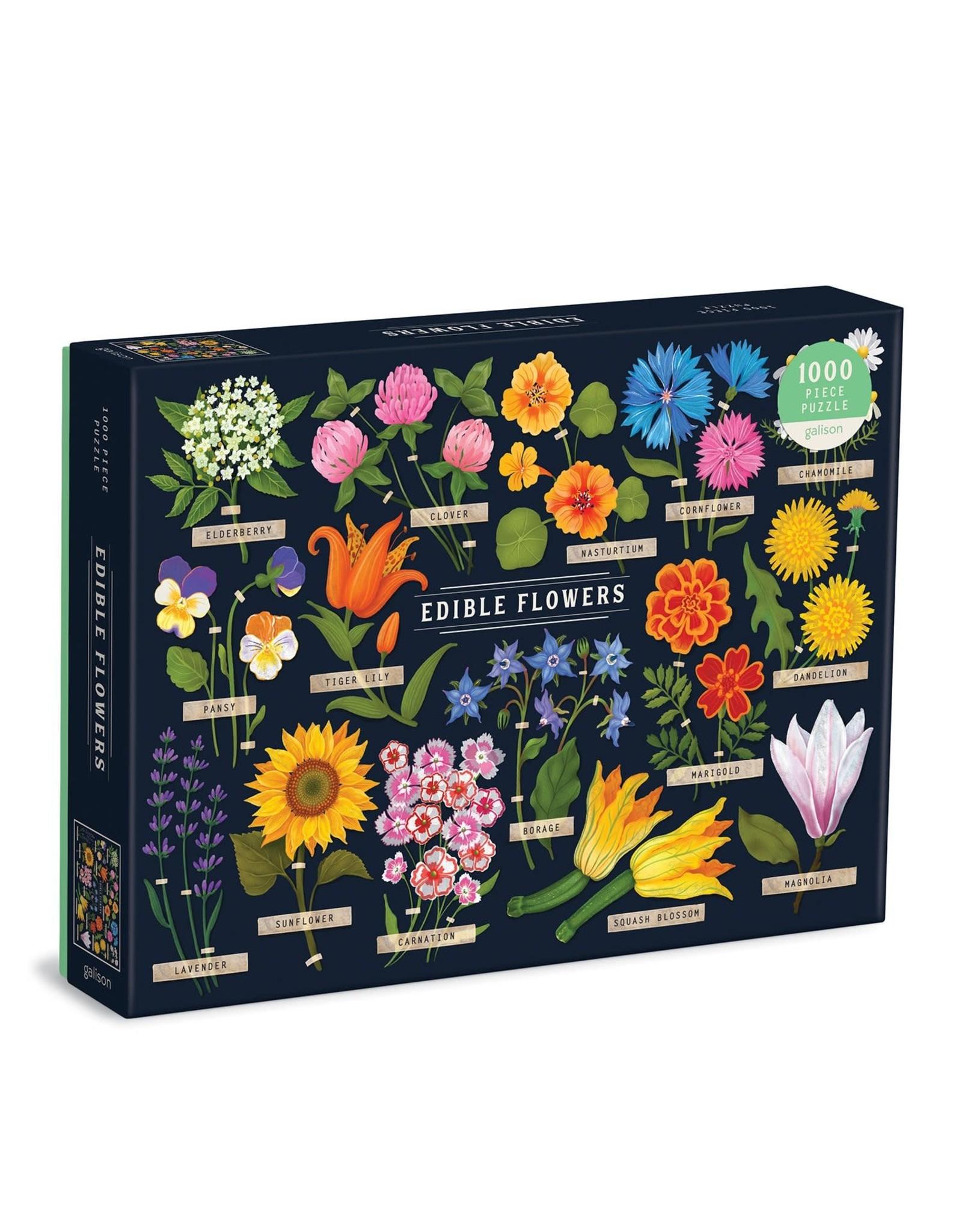 Galison Edible Flowers 1000 Piece Puzzle