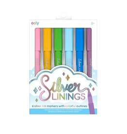 Ooly Silver Linings Outline Markers - Set Of 6